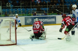 Avtomobilist Ekaterinburg vs Dinamo Minsk. KHL ice-hockey. December 10, 2010