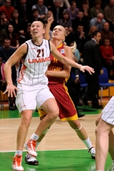 UMMC Ekaterinburg vs Galatasaray Istanbul. FIBA Euroleague 2009-2010. February 2, 2010