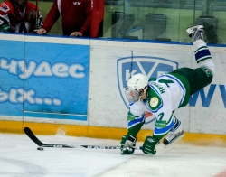 Ruslan Nurtdinov #17 and the puck