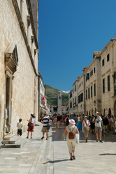 Placa Stradun street at Old City of Dubrovnik