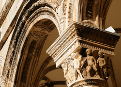 Baroque moulding of the Rector's Palace arc