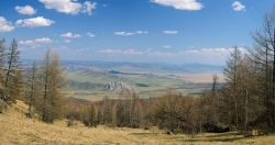 Panorama of Charysh river valley